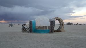 Mechanica Musica side view, Burning Man 2016