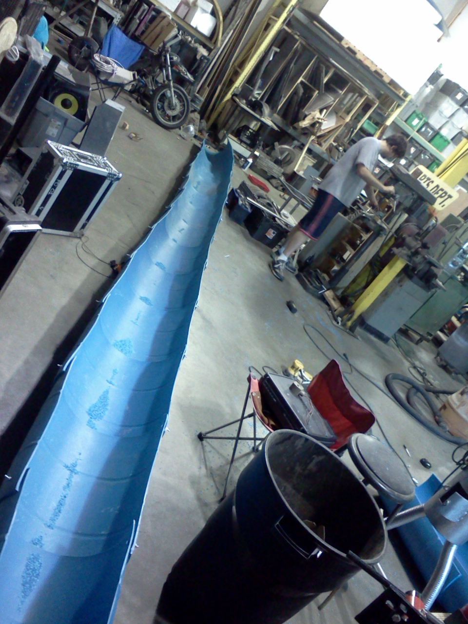 Slide chute in the shop